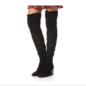 Ash Elisa Over-Knee Boots Black 8 long Saks bootie